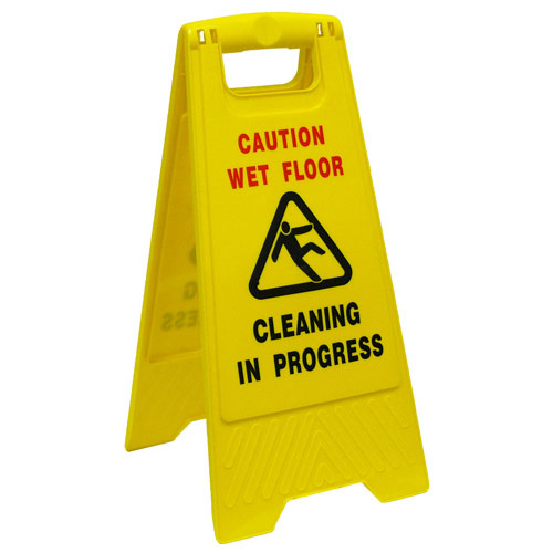 CLEANING IN PROGRESS SAFETY SIGN