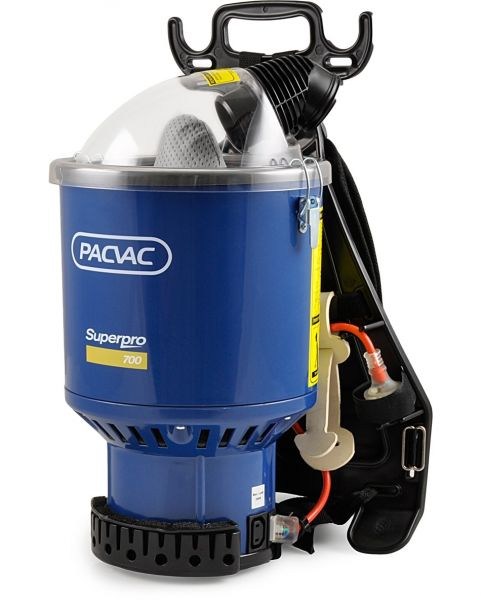 PACVAC SUPERPRO 700 COMMERCIAL BACKPACK VACUUM CLEANER