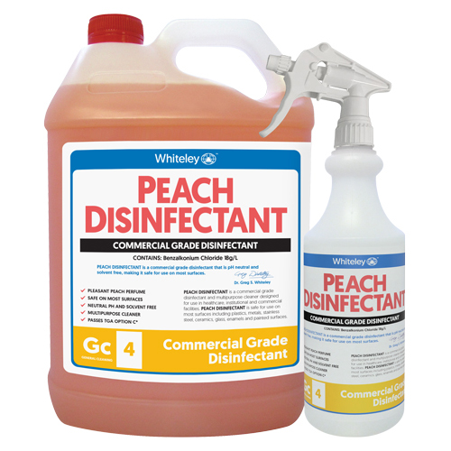 Peach-Disinfectant-5L-500mL-Trigger-500x500px